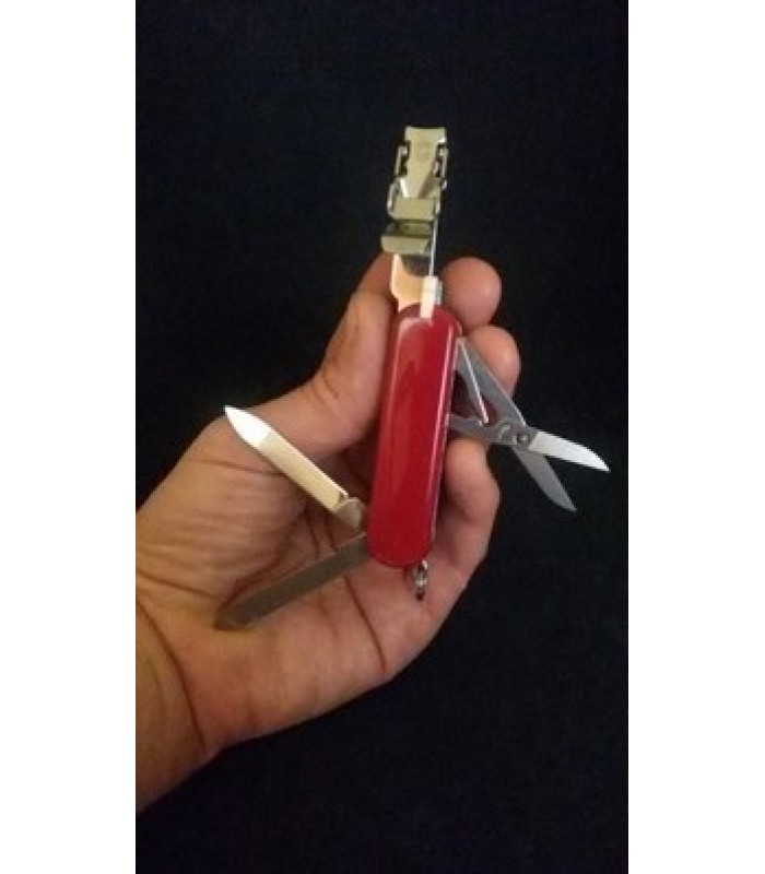 Coltello multuso Victorinox nail clip 580 red